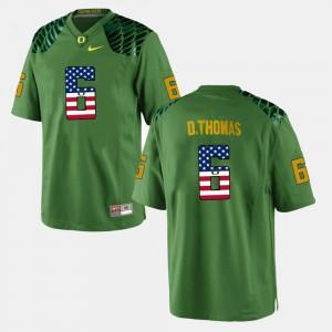 For Men's Green De'Anthony Thomas Oregon Jersey #6 US Flag Fashion 239165-550