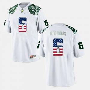 White #6 US Flag Fashion Mens De'Anthony Thomas Oregon Jersey 961302-401