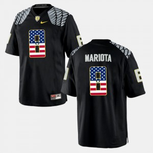 Marcus Mariota Oregon Jersey Black US Flag Fashion For Men #8 860787-368