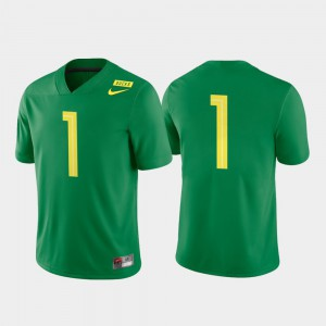 Game Oregon Jersey Apple Green #1 Mens College Football 329392-747