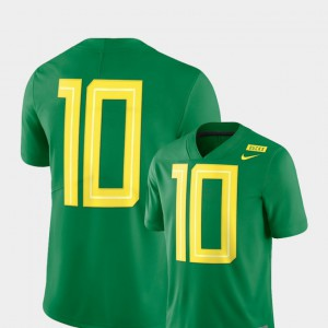 2018 Mighty Oregon Football Limited Apple Green Oregon Jersey #10 For Men's 888147-536
