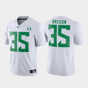 #35 Mens White Game Football Oregon Jersey 523302-450