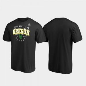 Oregon T-Shirt Men's Black 2020 Rose Bowl Bound Tackle 222155-164