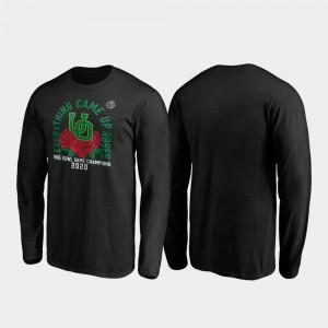 Receiver Long Sleeve Oregon T-Shirt 2020 Rose Bowl Champions For Men Black 180162-471