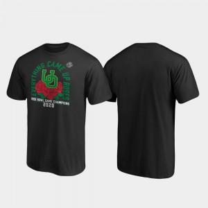 Black Mens Receiver 2020 Rose Bowl Champions Oregon T-Shirt 543762-632