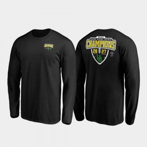 Men's Black 2020 Rose Bowl Champions Oregon T-Shirt Score Lateral Long Sleeve 831371-981