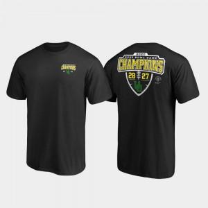 Oregon T-Shirt Mens Black 2020 Rose Bowl Champions Score Lateral 360174-846