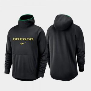 Oregon Hoodie Spotlight Basketball Team Logo Pullover Black For Men 419450-968
