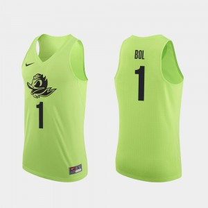 College Basketball Authentic Apple Green #1 For Men Bol Bol Oregon Jersey 376546-927
