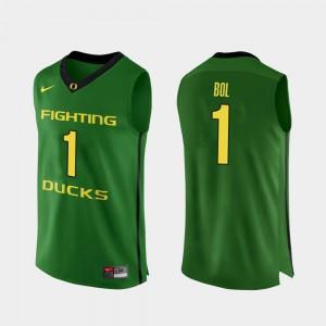 Mens Apple Green #1 Authentic College Basketball Bol Bol Oregon Jersey 435186-234
