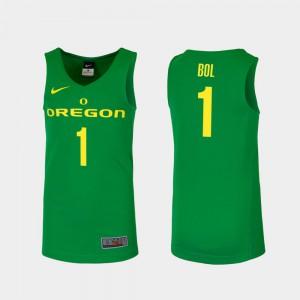 Green #1 Bol Bol Oregon Jersey Mens Replica College Basketball 443165-534