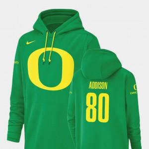 #80 Bryan Addison Oregon Hoodie For Men's Champ Drive Green Football Performance 763739-403