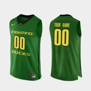 Apple Green Authentic Oregon Custom Jersey Mens College Basketball #00 771187-287