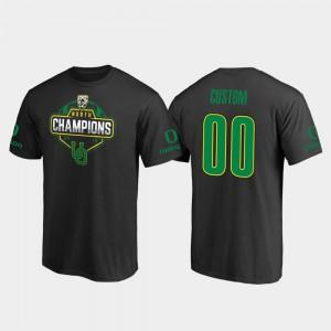 Oregon Customized T-Shirts #00 Black 2019 PAC-12 North Football Division Champions Men's 402765-547