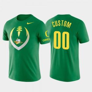 #00 Football Icon Oregon Customized T-Shirts Performance Men Green 170008-161