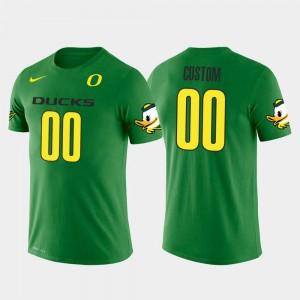 Green #00 Future Stars Oregon Customized T-Shirts For Men Cotton Football 495876-256