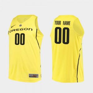 Oregon Custom Jersey College Basketball Mens #00 Yellow Authentic 973623-840