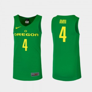 College Basketball Green Ehab Amin Oregon Jersey #4 Replica Men's 631073-132