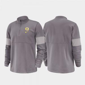 2019 Coaches Sideline Gray Half-Zip Performance Oregon Jacket For Men's 949342-610