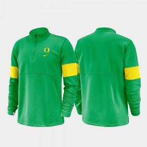 Green For Men's 2019 Coaches Sideline Half-Zip Performance Oregon Jacket 350554-280