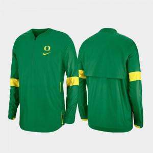 Quarter-Zip Green 2019 Coaches Sideline Oregon Jacket Mens 539481-129