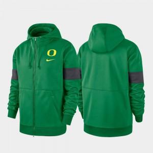 Performance Full-Zip Green 2019 Sideline Therma-FIT Men's Oregon Hoodie 609526-728