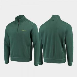 Half-Zip Pullover Tommy Bahama Oregon Jacket Green College Sport Nassau Men 131938-300
