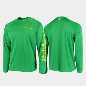 PFG Terminal Tackle Long Sleeve Omni-Shade Green Oregon T-Shirt For Men's 147375-459