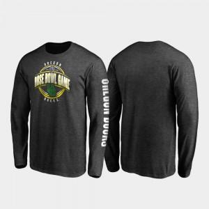 2020 Rose Bowl Bound Heather Charcoal Men Oregon T-Shirt Neutral Stiff Arm Long Sleeve 478520-258