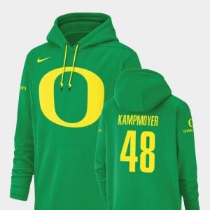 Men's Hunter Kampmoyer Oregon Hoodie Champ Drive Green Football Performance #48 735877-471