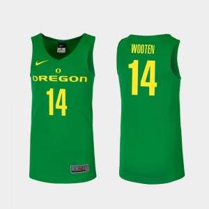 Replica Men #14 Green College Basketball Kenny Wooten Oregon Jersey 747447-270