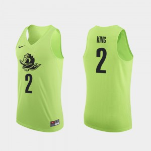 College Basketball Apple Green Louis King Oregon Jersey Authentic For Men's #2 682309-699