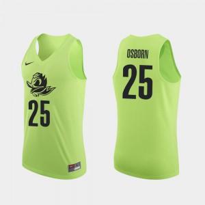 Luke Osborn Oregon Jersey For Men Apple Green #25 College Basketball Authentic 374236-705