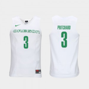 Payton Pritchard Oregon Jersey Elite Authentic Performance College Basketball #3 Mens White Authentic Performace 187840-302