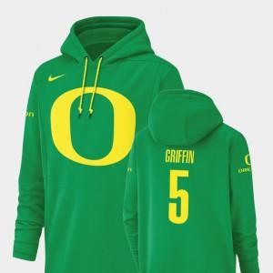 Taj Griffin Oregon Hoodie Champ Drive Green Football Performance #5 For Men's 755364-702
