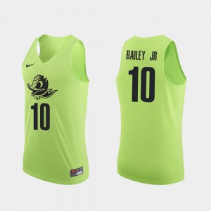 Apple Green Authentic Victor Bailey Jr. Oregon Jersey College Basketball #10 Mens 363542-836
