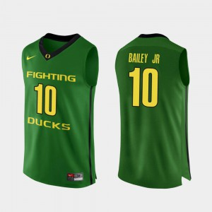 College Basketball Authentic #10 Apple Green For Men's Victor Bailey Jr. Oregon Jersey 492401-290