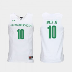 Elite Authentic Performance College Basketball Victor Bailey Jr. Oregon Jersey White #10 Authentic Performace Men's 337016-327