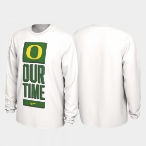 Our Time Bench Legend 2020 March Madness For Men's Oregon T-Shirt White 421909-554