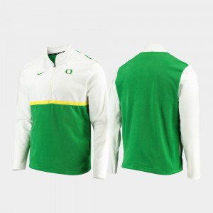 For Men's Color Block Quarter-Zip Pullover White Green Oregon Jacket 843031-406