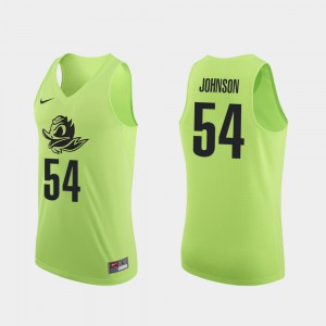 #54 Will Johnson Oregon Jersey Apple Green Authentic For Men's College Basketball 441282-909