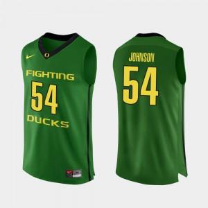 Authentic Men's College Basketball #54 Apple Green Will Johnson Oregon Jersey 183797-177