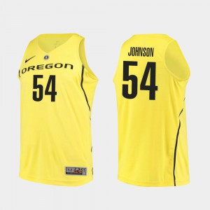 College Basketball #54 Will Johnson Oregon Jersey For Men's Authentic Yellow 512132-377