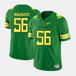 For Men College Football #56 Alex Balducci Oregon Jersey Green 215109-210