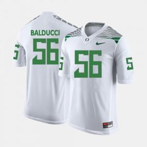Men's Alex Balducci Oregon Jersey White College Football #56 900081-359