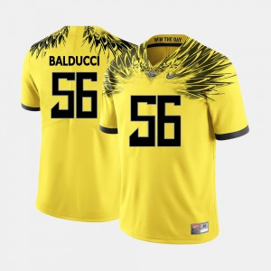 #56 Alex Balducci Oregon Jersey Yellow College Football For Men 370132-743