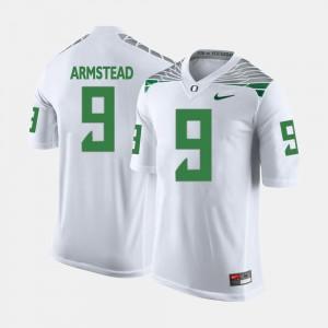 Men White Arik Armstead Oregon Jersey College Football #9 663649-516