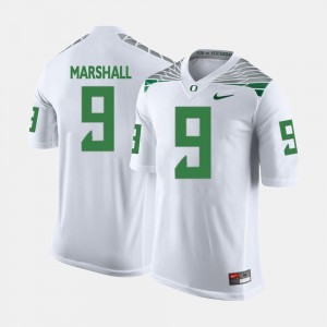 White For Men's #9 College Football Byron Marshall Oregon Jersey 693148-614
