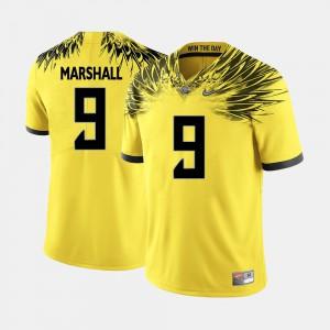 #9 Byron Marshall Oregon Jersey Men's College Football Yellow 401809-876