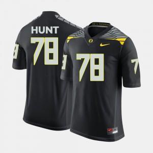 Mens #78 College Football Cameron Hunt Oregon Jersey Black 864377-395